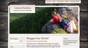 Skärmavbild av bloggens förra utseende.